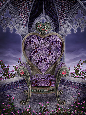 Gothic heart chair
