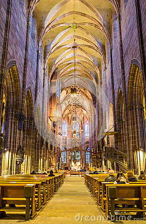 Free Gothic Interior Church- St.Lawrence Church- Nuremberg- Germany Stock Photography - 65998922