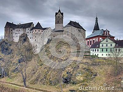 Gothic Loket castle