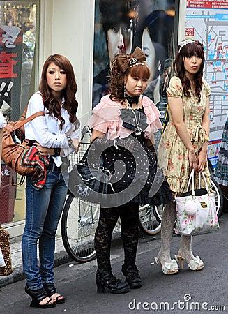 Gothic lolitas Editorial Image