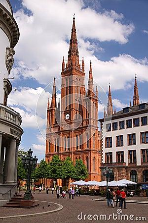Gothic Market Church Editorial Photo