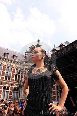 Gothic model on the catwalk Editorial Stock Photo