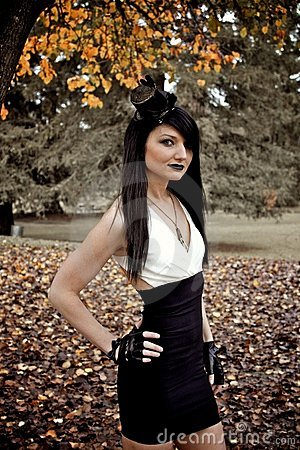 Gothic Model in Woods