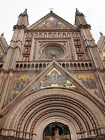 The gothic Orvieto cathedral