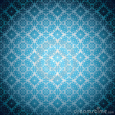 Gothic pale blue wallpaper