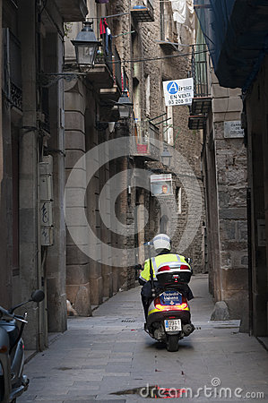 Gothic Quarter, Barcelona Editorial Photography