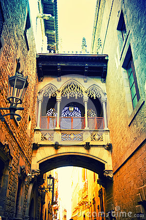 Free Gothic Quarter In Barcelona Royalty Free Stock Image - 49367106