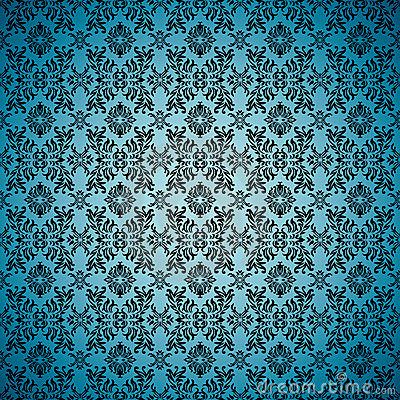 Gothic seamless blue wallpaper