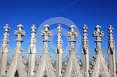 Gothic spires background