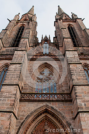 Free Gothic St. Elizabeth S Church In Marburg. Vertical Royalty Free Stock Images - 64046599