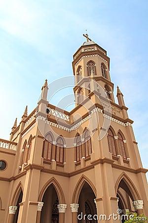 Free Gothic Style Church In Bangkok, Thailand. Stock Photo - 31157870