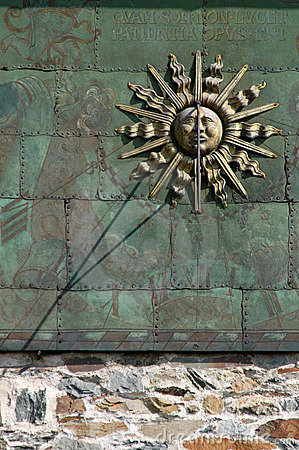 Free Gothic Sun Dial Stock Images - 570114