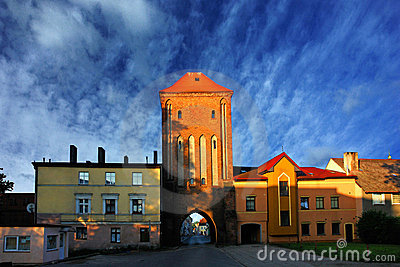 Gothic town gate of Darlowo, Poland
