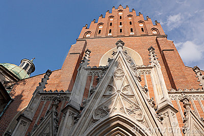 Gothic Trinity Church in Cracow
