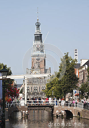 Free Gothic Weighing House And Drawbridge, Alkmaar Royalty Free Stock Images - 33268299