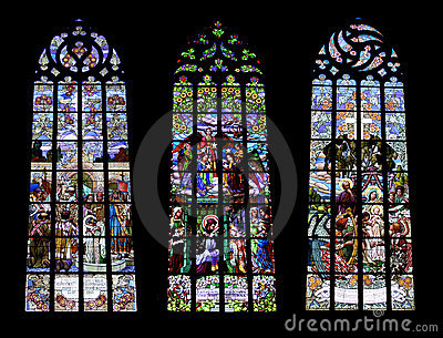 Gothic windows - collage