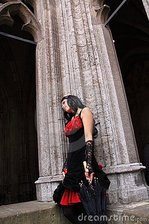Gothic woman Editorial Stock Photo