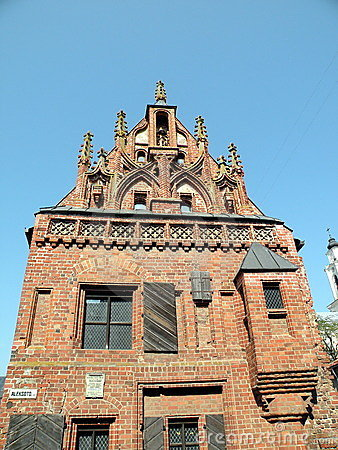 Gotic building in Kaunas