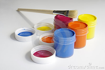 Gouache of paint