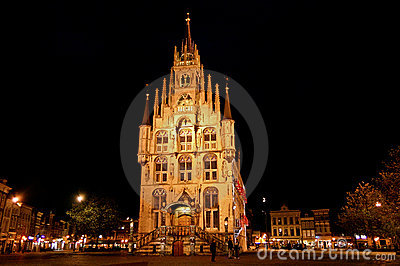 Gouda City Hall at Night