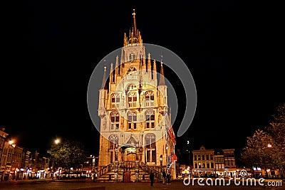 Gouda City Hall at Night