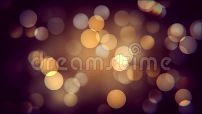 Gouden bokeheffect van de herfstnacht Warm vaag sparcles effect als achtergrond stock videobeelden