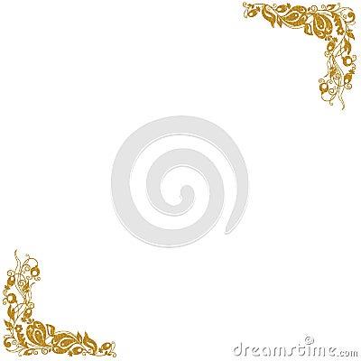 Gouden decoratieve hoeken
