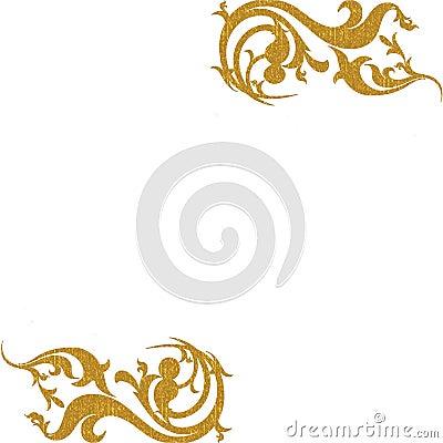 Gouden decoratieve hoekenachtergrond