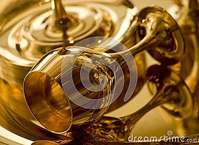 Gouden drinkbeker