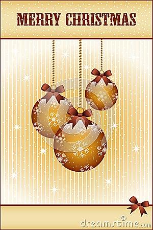 Gouden Kerstmisballen en bogen