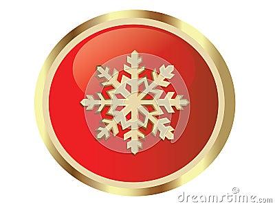 Gouden sneeuwvlok