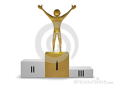 Gouden winnaar op podium vooraanzicht stock afbeeldingen afbeelding 37875124 - Podium voor badkuip ...