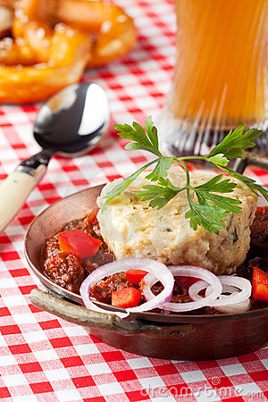 Goulash with dumpling