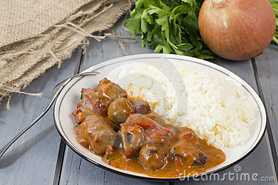 Goulash and White Rice