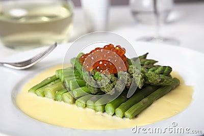 Gourmet Asparagus & Salmon Roe Appetizer