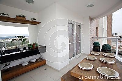 Gourmet balcony