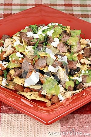 Gourmet beef nachos