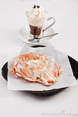 Gourmet coffee and desert