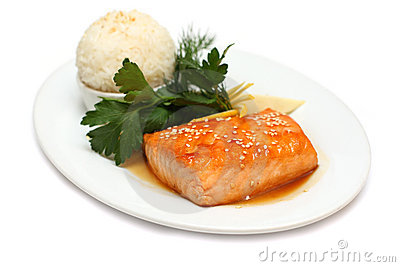 Gourmet food - fish steak