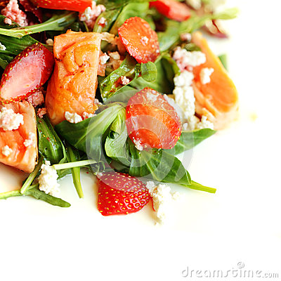 Free Gourmet Food, Salad With Salmon Stock Photos - 30445283