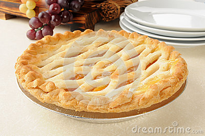 Gourmet peach pie