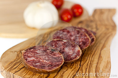 Gourmet Pepper Salami with garlic