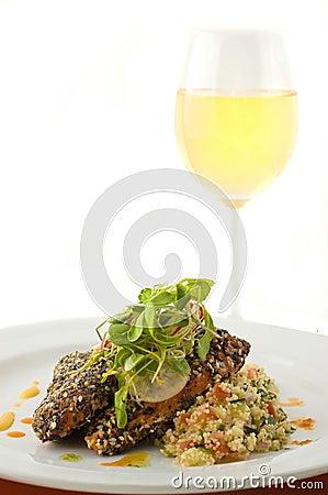Free Gourmet Salmon Dish. Stock Image - 7255171