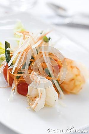 Gourmet Seafood Dish