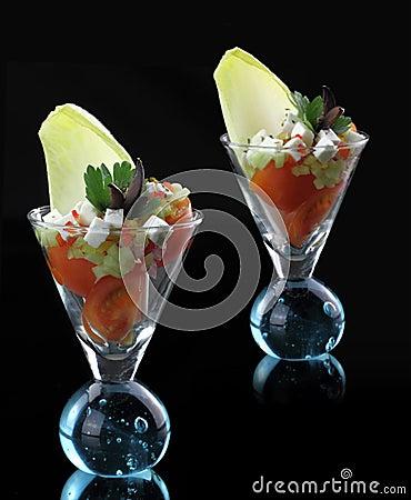 Gourmet vegetables salad