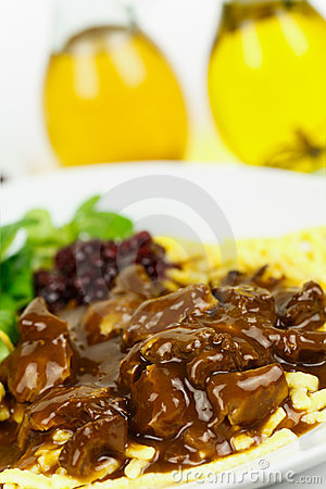 Gourmet Venison goulash with pasta