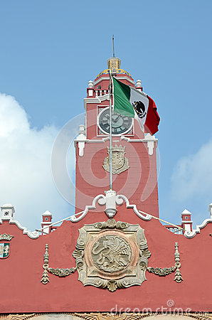 Governer s palace ,Merida. Mexico Editorial Stock Image