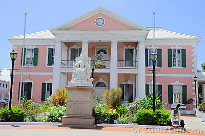 Government House in Nassau on Bahamas