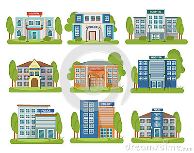 Government Icon Set Vector Illustration