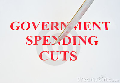 Government spending cuts.
